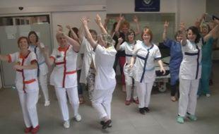Extrait du clip du personnel de la Polyclinique du Sidobre.