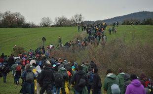 Le 15 mars, des réfugiés s'étaient mis en marche d'Idomeni pour rentrer en Macédoine.
