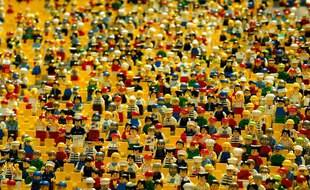 Illustration d'une foule en Lego.