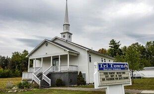 L'église où a été célébré le mariage dans le Maine.