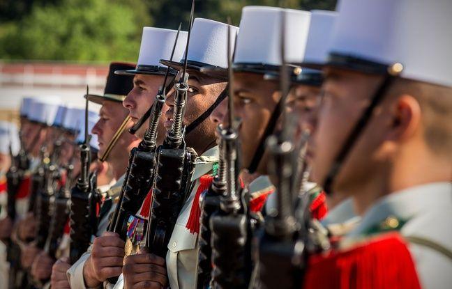 Illustration d'un bataillon de la légion étrangère.
