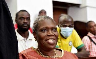 Simone Gbagbo, épouse de l'ancien président ivorien Laurent Gbagbo, au tribunal d'Abidjan le 9 mai 2016