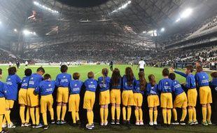 Des enfants au Stade Vélodrome pour OM-Bordeaux le 30 octobre 2016