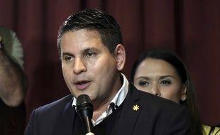 Fabricio Alvarado est arrivé en tête du premier tour de l'élection présidentielle au Costa Rica, le 4 février 2018.