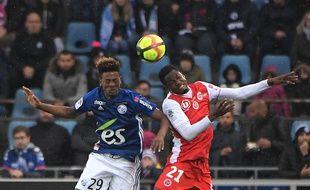 Nuno Da Costa a marqué deux buts pour Strasbourg ce mercredi soir.