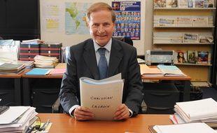 Louis Petiet, le PDG du cabinet Bernard Krief Consulting (BKC), candidat à la reprise de la maison de couture Christian Lacroix, à Paris, le 28 juillet 2009.