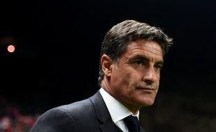 Michel, entraîneur de l'OM à Braga (Portugal) le 22 octobre 2015
