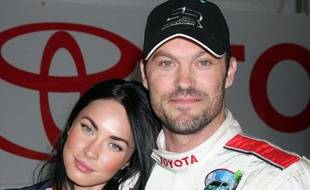 Megan Fox et Brian Austin Green au Toyota Pro Celebrity Race Day, à Long Beach en Californie, le 17 avril 2010.