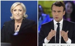 Marine Le Pen et Emmanuel Macron en meeting ce lundi 1 mai