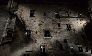 """Répétition de la pièce """"Le Prince de Hombourg"""" de Heinrich Von Kleist, dirigé par Giorgio Barberio Corsetti au estival d'Avignon, le 2 juillet 2014"""