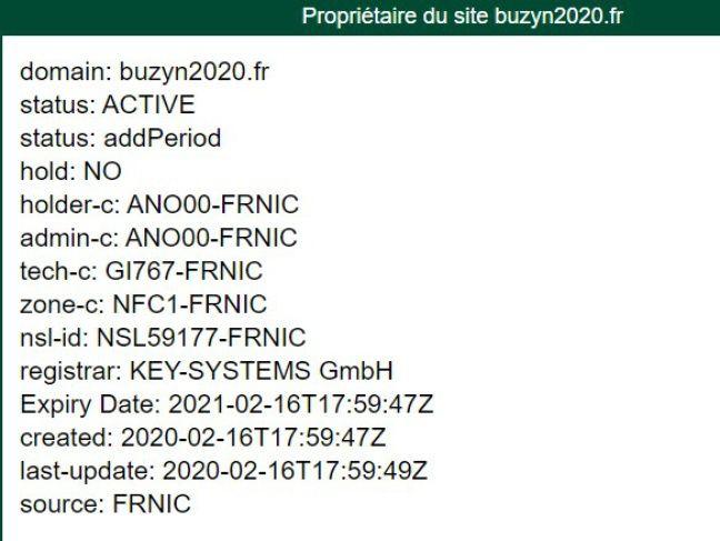 Le nom de domaine a été acheté peu après la déclaration de candidature de Buzyn.