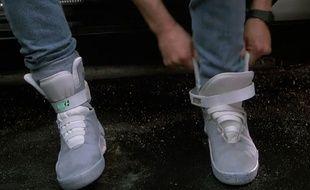 Les baskets Nike à lacets automatiques de Marty dans Retour Vers Le Futur 2.