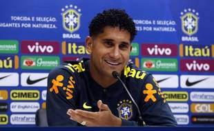 Pablo tout sourire lors de sa première conférence de presse avec la Seleçao ce mardi.