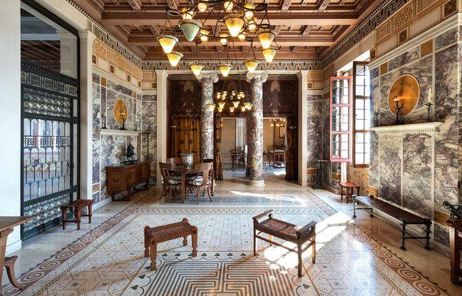 Une des pièces de la Villa Kérylos