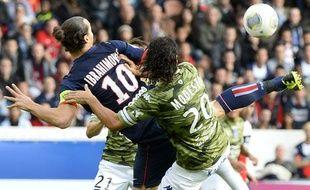 L'attaquant du PSGZlatan Ibrahimovic lors de son but contre Bastia, le 19 octobre 2013 au Parc des Princes.