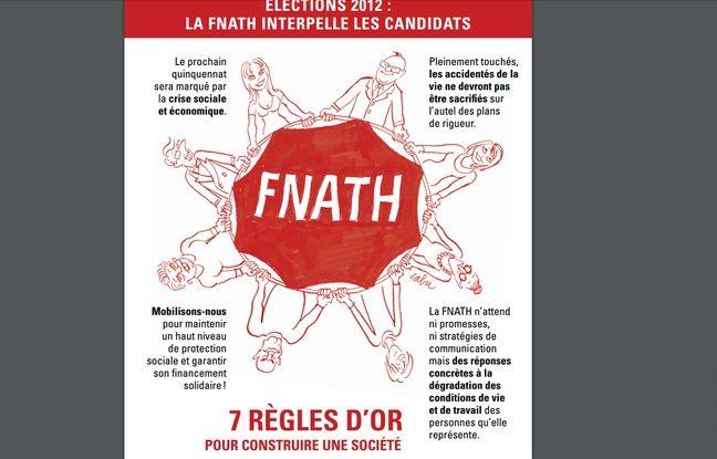 Manifeste de la F.N.A.T.H. - Association des accidentés de la vie en direction des candidats à la présidentielle 2012.