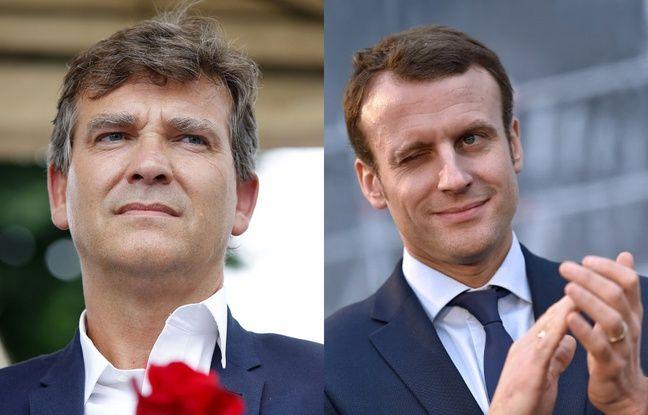 Arnaud Montebourg, Emmanuel Macron.