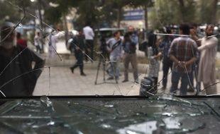Photo prise à Kaboul (Afghanistan) le 29 août 2017, après un attentat suicide.