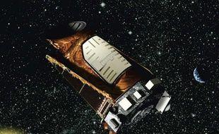 Image d'artiste du télescope spatial Kepler, lancé en 2009 à la recherche d'exoplanètes.