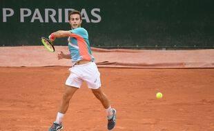 Hugo Gaston lors de son 2e tour à Roland-Garros, le 30 septembre 2020.