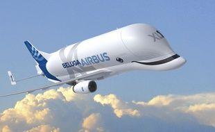 Le futur Beluga XL, qui sera mis en service en 2019.