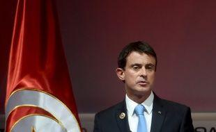 Manuel Valls lors de son discours en Tunisie.