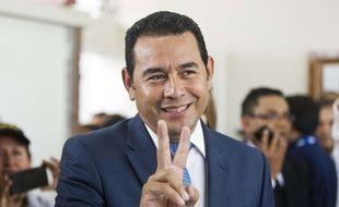 Le 6septembre 2015. Le comédien et animateur de télévision Jimmy Morales, 46 ans. Crédit AP Photo/Esteban Felix