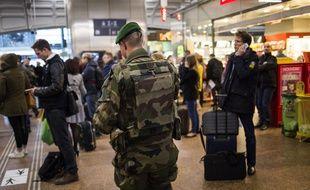 Un militaire de l'opération Sentinelle a été légèrement blessé lors d'une agression à la gare de Strasbourg, samedi soir. (Illustration)
