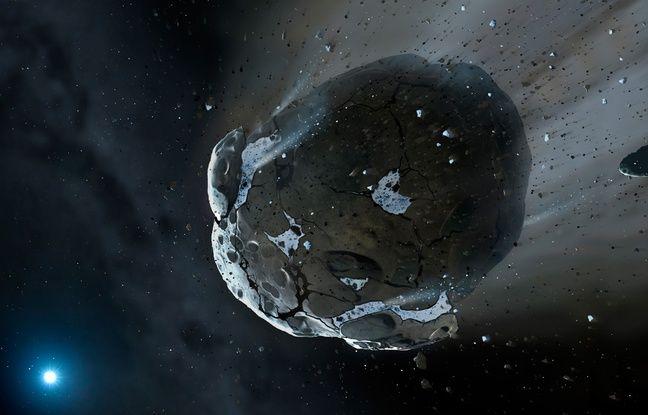 Vue d'artiste d'un astéroïde.