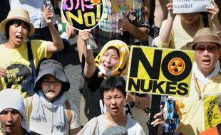 Plusieurs dizaines de milliers de personnes se sont rassemblées lundi en milieu de journée à Tokyo pour exiger l'arrêt de l'exploitation nucléaire au Japon, seize mois après la catastrophe de Fukushima.