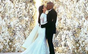 Une des photos de mariage postée par Kim Kardashian sur son compte Instagram