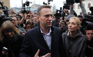 """L'opposant numéro un à Vladimir Poutine, Alexeï Navalny, pour """"détournement de fonds"""" a repris à Kirov, à 900 km de Moscou, après une première audience ajournée la semaine dernière, une affaire """"fabriquée de toutes pièces"""" selon lui et de nombreux opposants en Russie."""