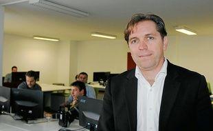 Eric Léandri dans les nouveaux locaux du moteur de recherche niçois.