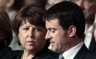 Martine Aubry et Manuel Valls.
