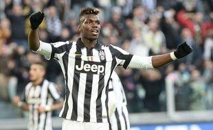 Paul Pogba lors du match entre la Juventus Turin et le Chievo Verone le 25 janvier 2015.
