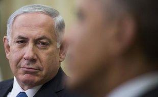 Le Premier ministre israélien Benyamin Netanyahou (à g.) et le président Barack Obama, le 1er octobre 2014 à la Maison Blanche, à Washington.