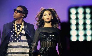 Jay-Z et Beyoncé, à Paris, au Stade de France, le 12 septembre 2014.