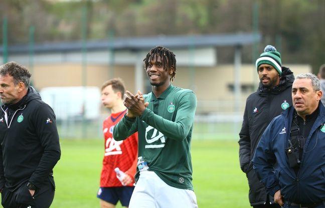 Charles Abi a délivré les jeunes Verts en quart de finale, contre Lille (3-2).