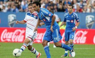 Le défenseur italien Alessandro nesta sous le maillot de Montréal en juillet 2013 contre l'OL en match amical.