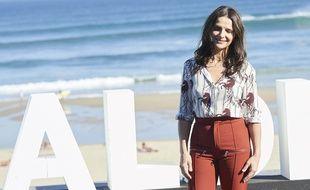 Juliette Binoche, actrice, au San Sebastian International Film Festival le 27 septembre 2018, en Espagne