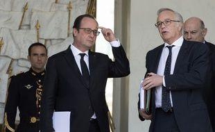 François Rebsamen, le ministre du Travail, ici au côté de François Hollande le 15 avril 2015, porte