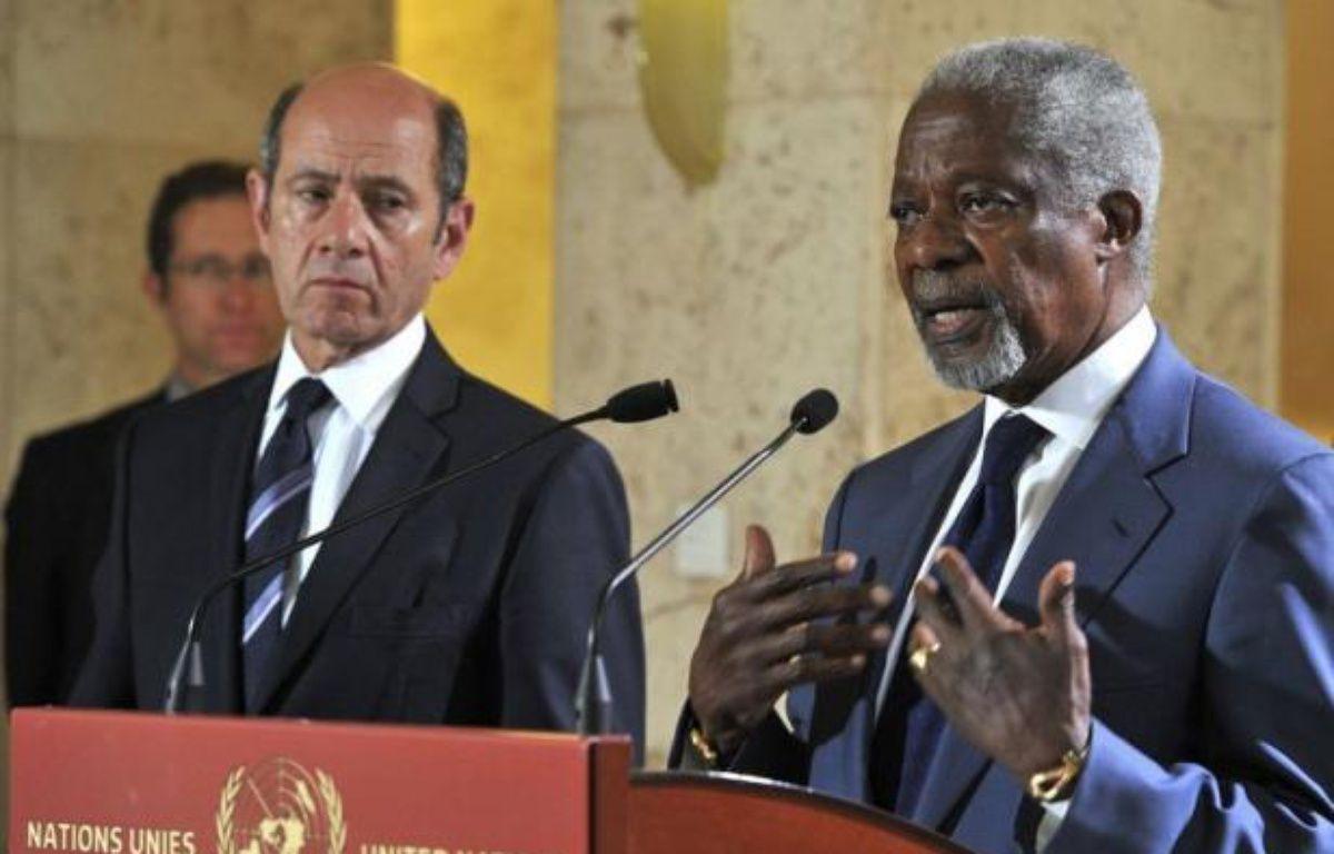 Une réunion préparatoire se tiendra vendredi à Genève avant la première réunion samedi du Groupe d'action sur la Syrie, a annoncé dans un communiqué le porte parole de Kofi Annan, l'émissaire spécial des Nations Unies et de la Ligue arabe sur la Syrie. – Violaine Martin afp.com