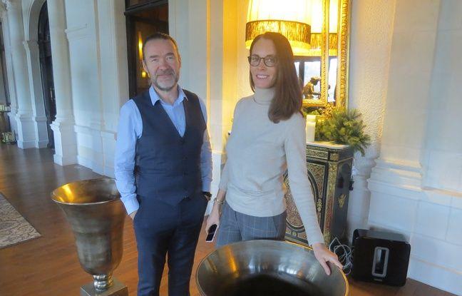 Philippe Rousse et Virginie Guillerm, les propriétaires du château.