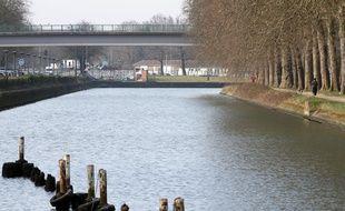 Illustration des rives de la Deûle, à Lille.