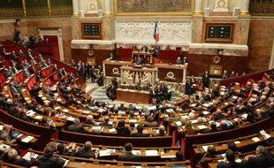 L'hémicycle de l'Assemblée Nationale le 29 avril 2014