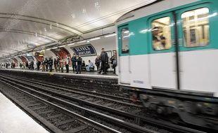 Une rame du métro parisien (Illustration).