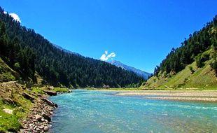La rivière Kunhar, au Pakistan.