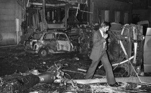 Rue Copernic, le 3 octobre 1980, peu après l'attentat. (archives)