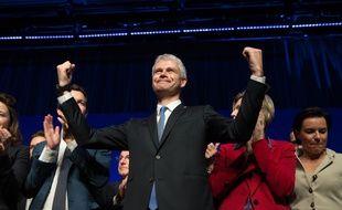 Laurent Wauquiez, président du parti Les Républicains, le 27 janvier 2018 lors d'un conseil national à Paris