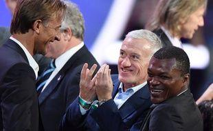Didier Deschamps lors du tirage au sort des groupes de la Coupe du monde 2018, le 1er décembre 2017 à Moscou.